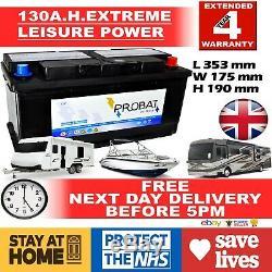 12v 130ah 130 Ah Loisirs Batterie Deep Cycle Pour Motorhome / Caravane / Campervan £