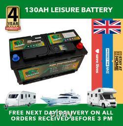 12v 130ah Leisure Battery High Power Deep Cycle 4yr Garantie Caravan Campervan