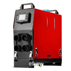 12v Aérotherme Diesel Nuit 5kw 4 Trous Moniteur LCD À Distance Camions Bateaux D'accueil De Voitures