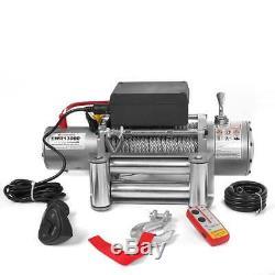 12v Elektrische Seilwinde 5909 KG Motorwinde Offroad 12 V + Funkfernbedienung