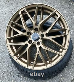 19 Zoll Damina Dm08 Felgen 5x112 Für Audi Vw Skoda Seat Cupra Gti Rs S3 Bronze