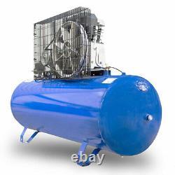 200l Litre Air Compressor Belt Drive 3hp 145psi 10bar 14cfm 2 Cylindres