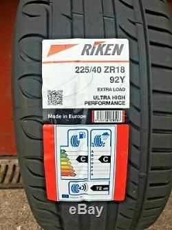 225 40 18 Pneus Riken Michelin Made 225 / 40zr18 92y Ultra Haute Performance Pas Cher