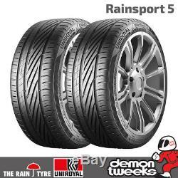 2 X 5 Uniroyal Rainsport Performance Pneus Route 225 40 18 92y XL Capacité De Charge Supplémentaire