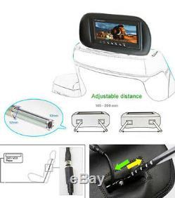 2x 17,8 CM Tft LCD 7 Affichage Numérique Monitor Kopfstütze Für Auto Kfz DVD Dvb-t
