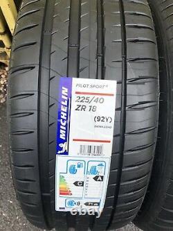2x 225/40 Zr18 Michelin Pilot Sport 4, 92y XL Brand-new Dot 2021