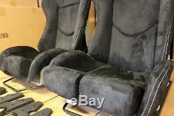 2x Bride Seat Stradia Lowmax, Noir En Fibre De Verre Pleine Alcantara Noir