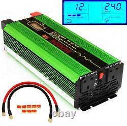 3000avec6000w (peak) Dc12v-ac240v Intelligent Power Onduleur Soft Start LCD Display