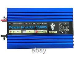 3000w(peak)/1500w Dc12v Intellingent Pure Sine Wave Power Onduleur LCD Display