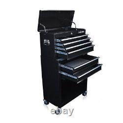 311 Nous Pro Outils Noir Outil Coffre Boîte Roller Cabinet Coffre Verrouillable