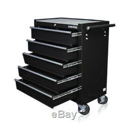 334 Nous Pro Tools Noir Abordable Acier Chest Boîte À Outils Rouleau Cabinet Tiroirs 5