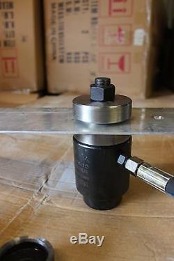 36 Pcs Dimple Die + Jeu De Perforatrices Hydrauliques. 16 63mm De Coupe, 1 / 2-2.5 In Radius