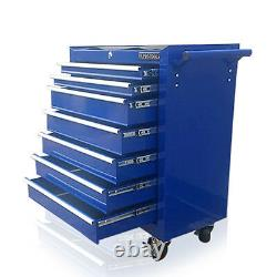 374 Us Pro Blue Tools Affordable Steel Chest Tool Box Roller Cabinet 7 Tiroirs