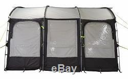 390 CM Lightweight XL Caravan Porch Awning Charbon + Sac De Rangement
