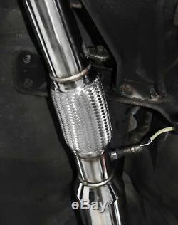 3 Système D'échappement Complet En Acier Inoxydable Pour Cat Subaru Impreza Wrx Sti Gc8 Gda