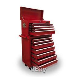 426 Boîte À Outils Boîte À Rouleaux En Acier Poitrine 16 Tiroirs Gloss Red Us Pro Tools