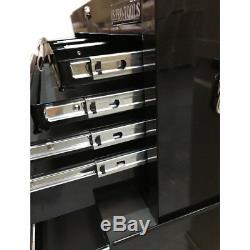 428 Coffre À Outils En Acier Avec Armoire À Roulettes, 16 Tiroirs, Noir Lustré Us Pro Tools