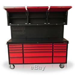 434 Us Pro Boîte À Outils, Coffre À Outils, Rouge Avec Noir 72 Panneaux Arrière 3 Armoires X