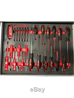 473 Nous Pro Coffre À Outils Boîte Avec Des Outils Plateaux 6 Tiroirs Rouleau Cabinet 154 Pc