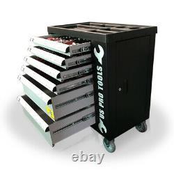 473 Nous Pro Tool Coffret Boîte Avec Bacs D'outils 6 Tiroirs Roller Cabinet 154 Pc