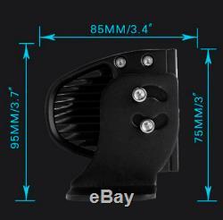 50 Pouces 288w Voiture Spot De Projection Combinée Courbée Barre De Lumière Led Conduite Hors-piste Lampe Suv