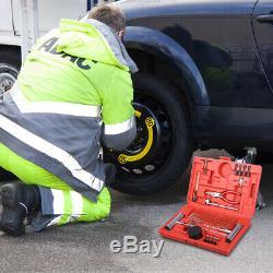 56pcs Car Crevaison Des Pneus D'urgence Kit De Réparation Outils Pour Voiture Van Moto A