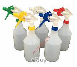 5 X Trigger Vaporisateurs 750ml, Valeting, Hydroponique, Têtes Résistant Aux Produits Chimiques