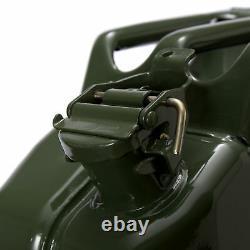 5x Oxid7 Metallkanister Metall Benzinkanister Kraftstoffkanister Olivgrün 20 L