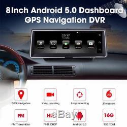 7,84 1080p Hd Voiture Rétroviseur Navigation Dvr Caméra Bluetooth Android Gps