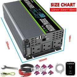 À Distance 2000with4000w Power Inverter 12v Onde Sinusoïdale Pure À 240v LCD Solaire Convertisseur
