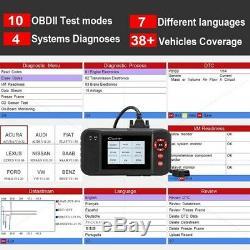 Abs Airbag Srs Réinitialiser Outil De Diagnostic Obd2 Voiture Code De Défaut Lecteur Services Scanner