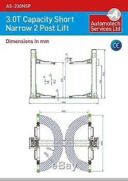 Affinez Court 2 Poste Ascenseur Voiture Véhicule Rampe / Ascenseur / Hoist 3,0 T / Rampe-deux