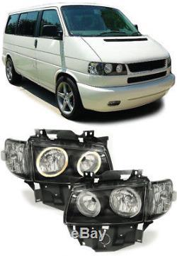 Angel Eyes Scheinwerfer + Blinker Noir Pour Vw Bus T4 Caravelle Multivan Ab 96