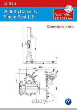 Ascenseur Statique De Véhicule De Poteau Simple / Rampe De Voiture De Poteau / Capacité 2500g 240v