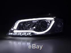 Audi A3 2003-2008 8p Noir R8 A Mené Des Phares De Projecteur D'oeil De Drl Devil Eye
