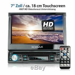 Autoradio DVD CD Bluetooth Écran Tactile À Écran Tactile 718cm Usb = 128 Go Mp3 Aux 1din