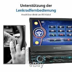 Autoradio Mit 18cm Hd Vidéo Tactile Bildschirm Bluetooth Usb Sd Mp3 Aux 1din