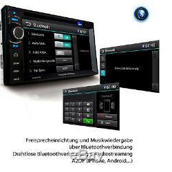Autoradio Mit Bluetooth 2 Doppel Din DVD Usb Mp3 Navigation Dab + Navigation Bildschirm