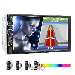 Autoradio Mit Navi Gps Usb Sd Bluetooth 7touch Moniteur Mp3 Id3 Wma Mpeg-4 2din