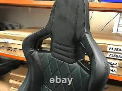 Bb6 Inclinable Bucket Sports Seats Noir / Diamant Stitch Alacantra Universal
