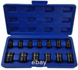 Bergen 3/8 Inch Drive Impact Socket Set Shallow Impact Sockets 7mm-19mm 6pt Hex