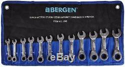Bergen Clé Mixte À Cliquet 12pc Clé Mixte À Cliquet 8-19mm
