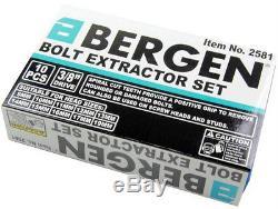 Bergen Jeu De Douilles À Vis Pour Extracteur De Boulon De Goujon D'extracteur D'écrou De Roue Verrouillable, 11 Pièces