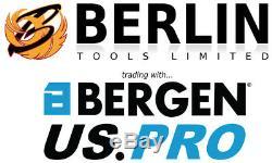 Bergen Jeu De Douilles Et De Douilles 3/8 Jeu D'outils À Entraînement À Cliquet Métrique Et Af 50