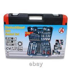 Bgs Faites-le Vous-même Steckschlüssel-satz 176-teilig 1/4 3/8 1/2 Werkzeugkoffer