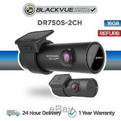 Blackvue Dr750s-2ch (16 Go) Avant Et Arrière Cam Dash Wi-fi Gps Full Hd Réformé