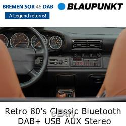 Blaupunkt Bremen Sqr 46 Dab Retro 80 Classiques Bluetooth Dab + Usb Aux Car Stereo