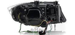 Bmw 3 Series E90 E91 05-08 Led 3d Black Drl Daylight Feux Phares