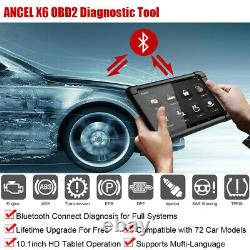 Bt Ancel Tout Code Système Lecteur De Voiture Outil De Diagnostic Avec 10 Tablet Obd2 Scanner
