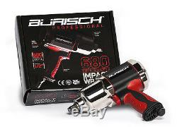 Burisch Air Impact Wrench 680nm 500ft-lb De Percussion Twin Hammer 1/2 Pilote Pro Series
